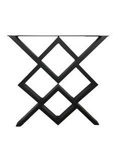 Ніжки для столу металеві 600*720*50 мм EK Loft Н 0015 2 шт Чорні