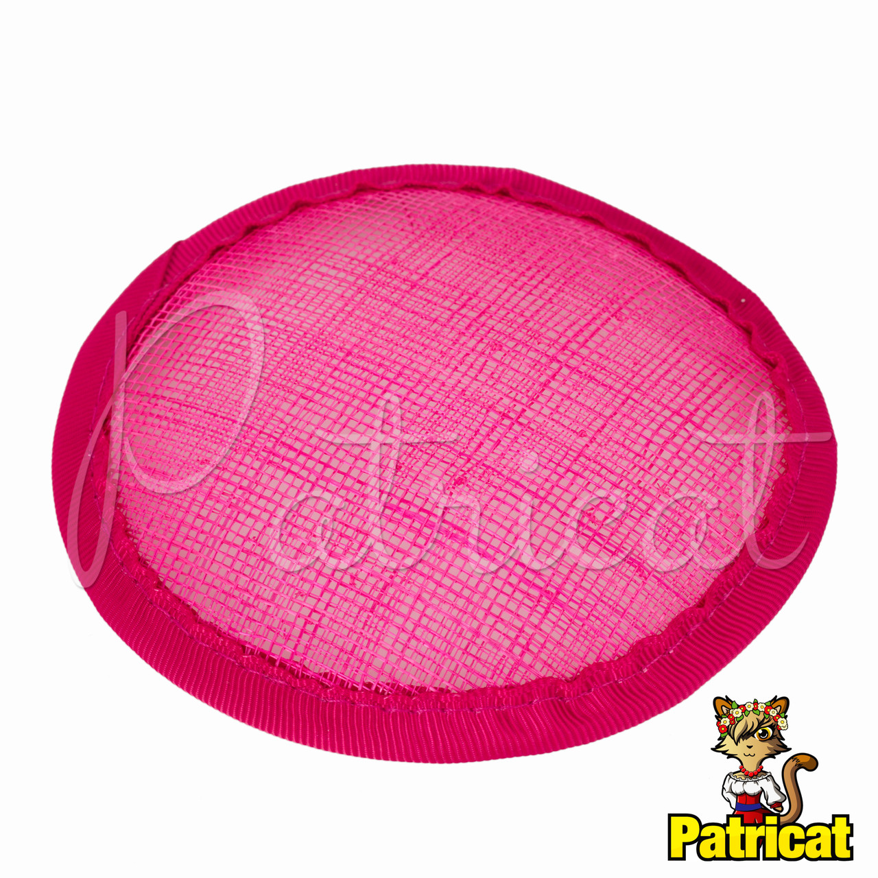 Основа Синамей для шляпки, вуалетки круглая Фуксия 10 см, фото 1