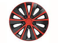 Колпаки R13 красные с черным Rapide, комплект 4 шт