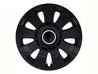 Колпаки R13 черные Aura, комплект 4 шт