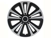 Колпаки R16 серые с черным Terra mix, комплект 4 шт
