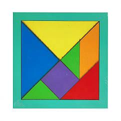 """Дитяча мозаїка """"Танграм"""" 172400 дерев'яна (Бірюзовий)"""