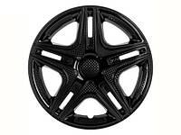 Колпаки R13 черные диски Dakar, комплект 4 шт