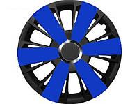 Колпаки R14 синие с черным Argento, комплект 4 шт