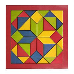 """Дитяча мозаїка """"Геометрика"""" 172401 дерев'яна (Червоний)"""