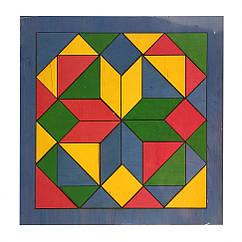 "Дитяча мозаїка ""Геометрика"" 172401 дерев'яна (Синій)"