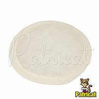 Основа Синамей для шляпки, вуалетки круглая Молочная 10 см