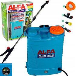 Обприскувач акумуляторний AL-FA 16L ( Li-ion батарея )