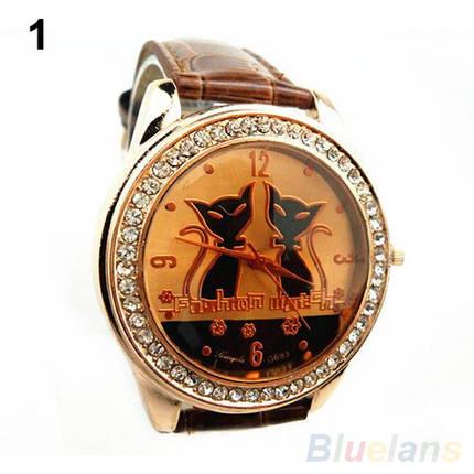 Жіночі кварцові наручні годинники Gato Negro Brown, фото 2
