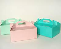 Коробка подарочная «Сундучок», 95x125x50 мм, цвет Тиффани с рисунком\мятный с розами