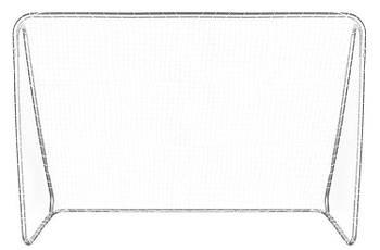 Футбольні ворота Malatec XXL 215x150x70 см + мат Польща