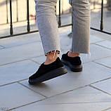Туфли женские черные на шнуровке натуральная замша, фото 2