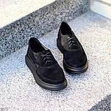 Туфли женские черные на шнуровке натуральная замша, фото 7