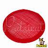 Основа Синамей для шляпки, вуалетки круглая Красная 10 см
