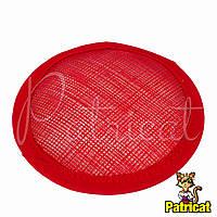 Основа Синамей для шляпки, вуалетки круглая Красная 10 см, фото 1