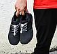 Эластичные шнурки для обуви с фиксатором. Регулируемые резиновые шнурки. Цвет черный с белой точкой, фото 4