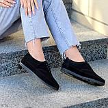 Туфли женские черные на шнуровке натуральная замша, фото 6