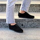 Туфли женские черные на шнуровке натуральная замша, фото 9
