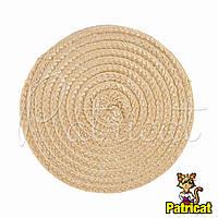 Основа для шляпки, вуалетки круглая плетеная Айвори песочный диаметр 11.5 см