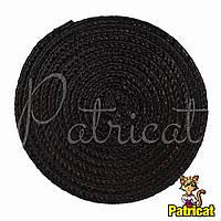 Основа для шляпки, вуалетки круглая плетеная Черная диаметр 11.5 см