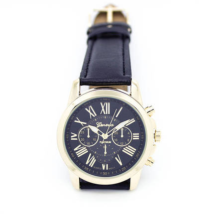Кварцевые наручные часы Jeneva Schwarz Sovar, фото 2