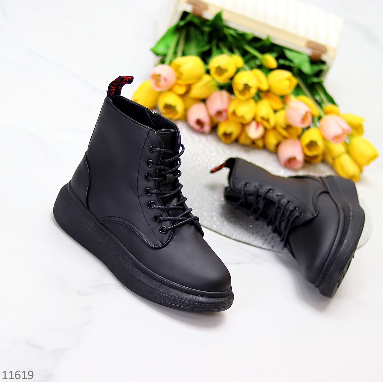 Високі жіночі кросівки - хайтопы чорні еко шкіра