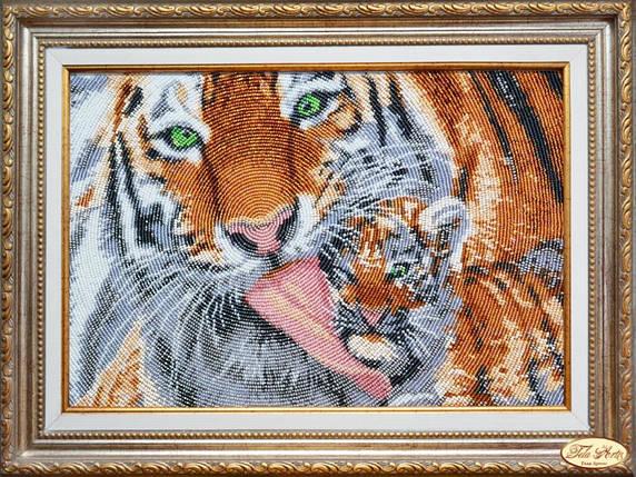 """Набор для вышивания бисером """"Мамина радость. Тигры"""", фото 2"""