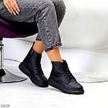 Високі жіночі кросівки - хайтопы чорні еко шкіра, фото 8