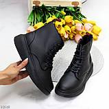 Високі жіночі кросівки - хайтопы чорні еко шкіра, фото 9