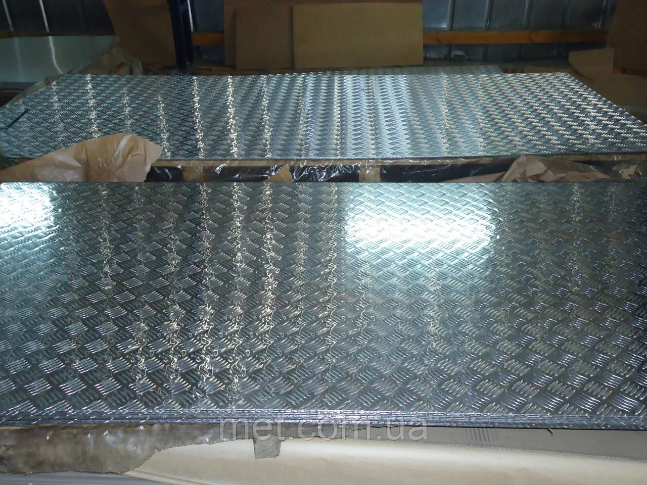 Лист рифленый 2 мм квинтет алюминиевый, фото 1