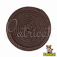 Основа для шляпки, вуалетки круглая плетеная Шоколадная диаметр 11.5 см