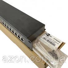 """Патч-панель Atcom 19"""" 24 порти FTP 1U cat.5e with cable organizer (FP5224)"""