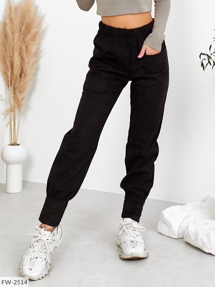 Женские замшевые брюки (Батал)