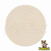 Основа для шляпки, вуалетки круглая плетеная Айвори диаметр 11.5 см