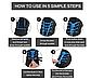 Регулируемые эластичные шнурки с фиксатором.Резиновые шнурки для обуви: кроссовок, ботинок. Цвет синий пестрый, фото 6
