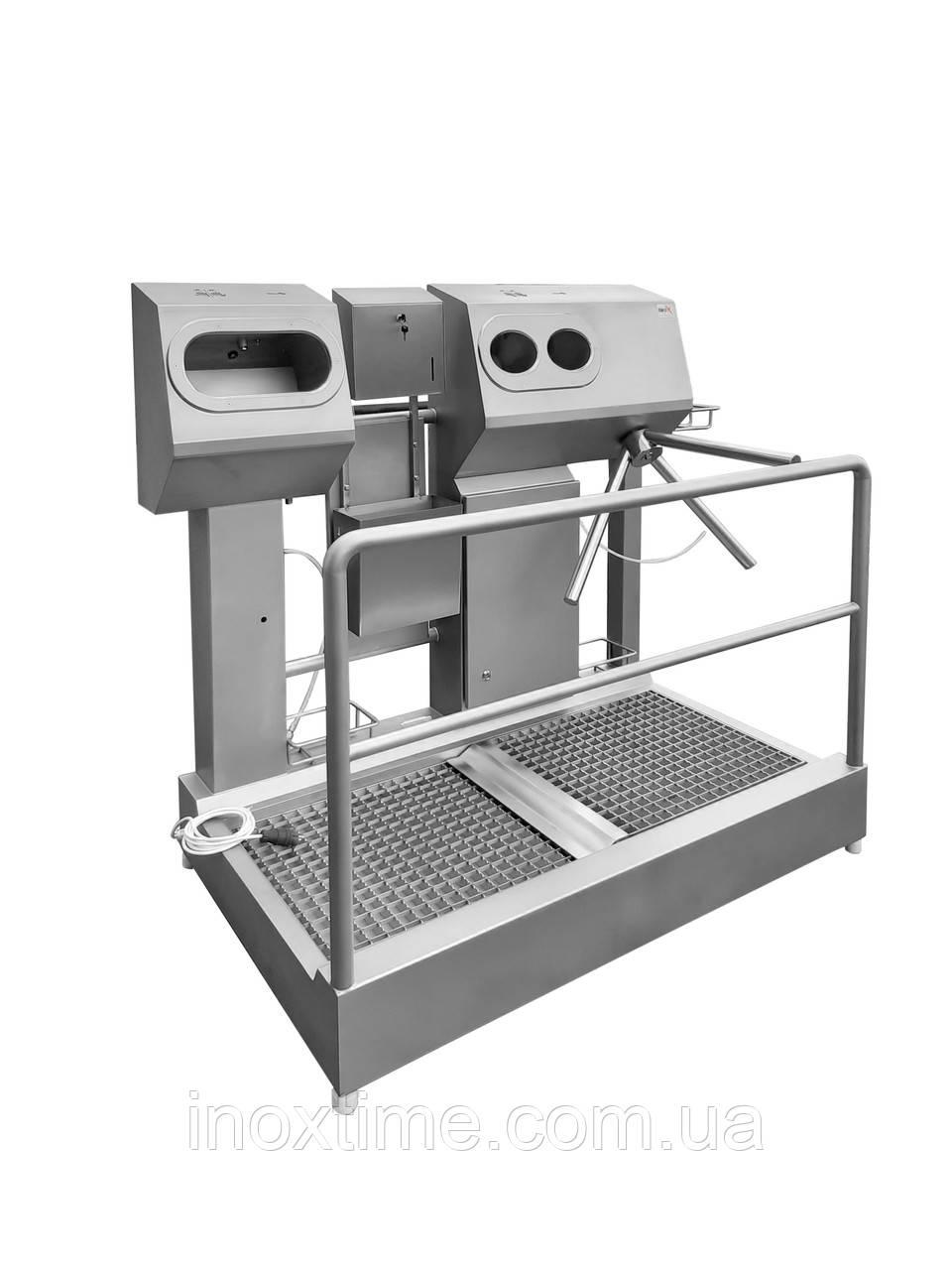 Санпропускник з вбудованим безконтактним умивальником і зоною для сушіння рук SPG 1110 D L