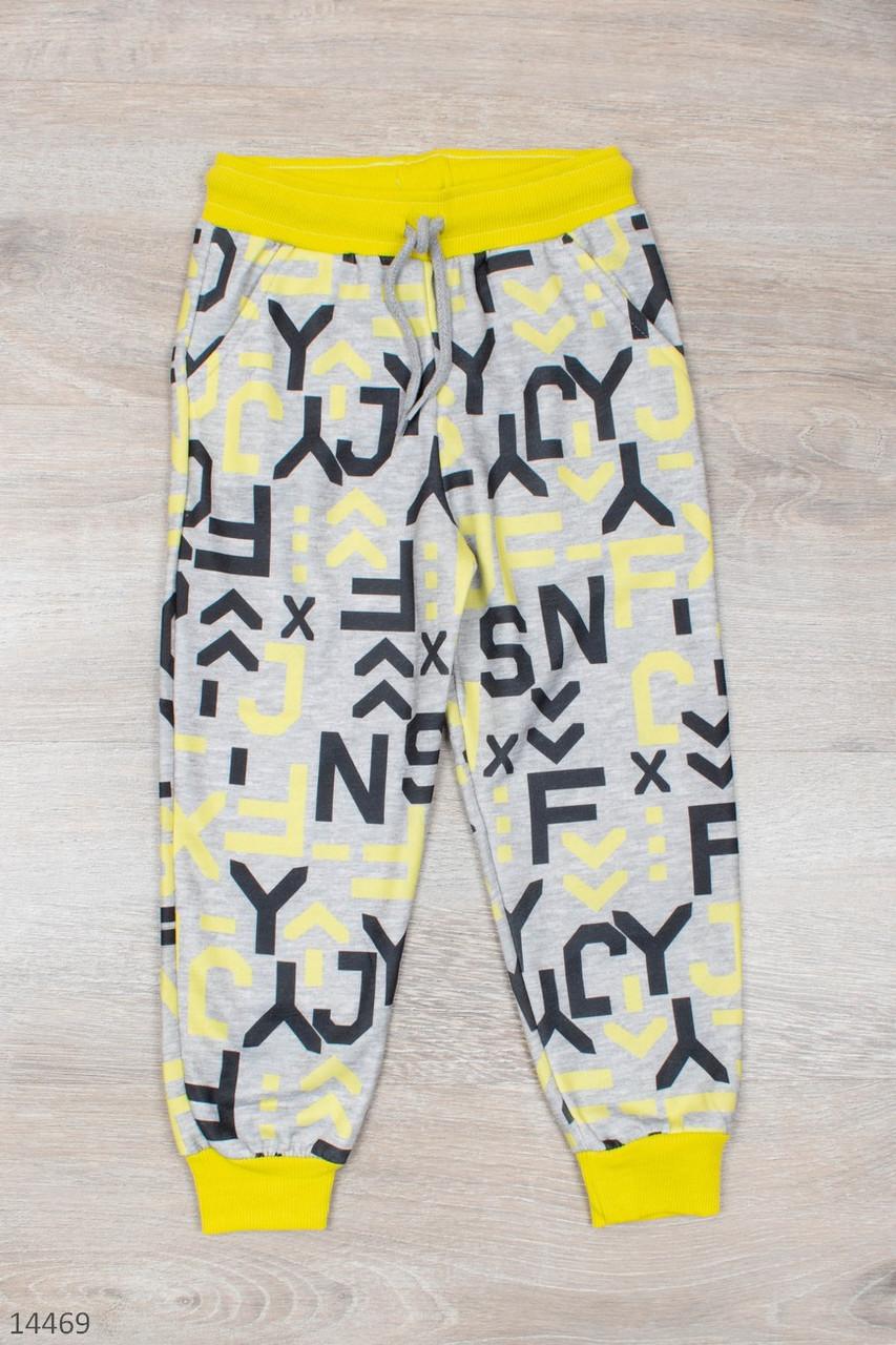 Спортивные штаны для мальчика рост 98-128 (3-8 лет) 2 цвета