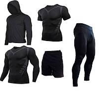 Компрессионная одежда 5в1 black bat для тренировок