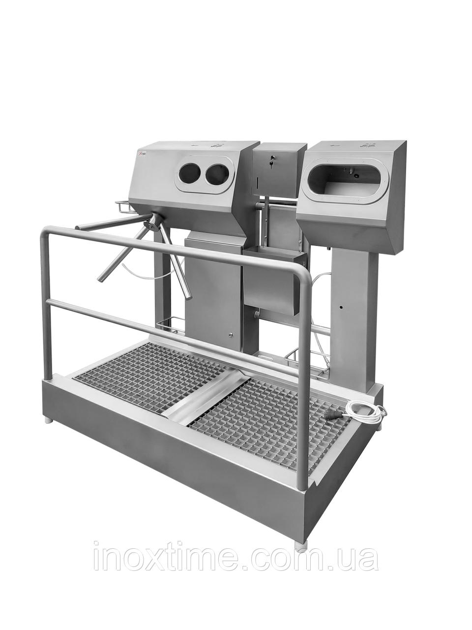 Санпропускник з вбудованим безконтактним умивальником і сушкою для рук SPG 1110 D R