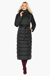 Зимова довга тепла жіноча куртка воздуховик чорного кольору Braggart angel's Fluff 46620, Німеччина оригінал