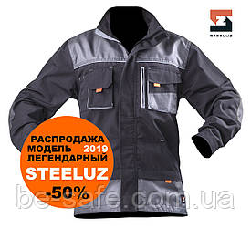 Куртка робоча захисна SteelUZ з червоною обробкою, модель 2019, зріст 180-190см