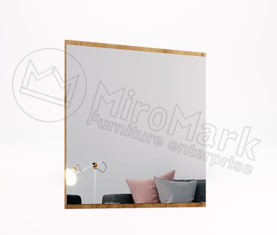 Зеркало 800х800, Прихожая Луна (LUNA), Дуб Крафт/Мат, Лава МИРОМАРК