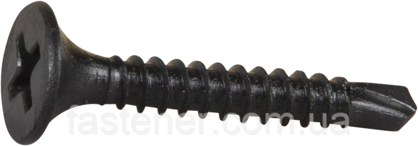Саморез для гипсокартона, мет., 3,5х40, фосфат, PH2, упак. 900 шт, Швеция
