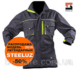 Куртка робоча захисна SteelUZ з салатовою обробкою, рост 180-190 см