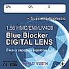 Яскраві, окуляри жіночі комп'ютерні 2190 (спец. лінзи BLUE BLOCKER Південна Корея WORLD VISION), фото 7