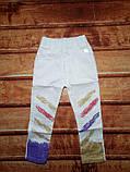 Штани для хлопчиків білі котон 7706, фото 3