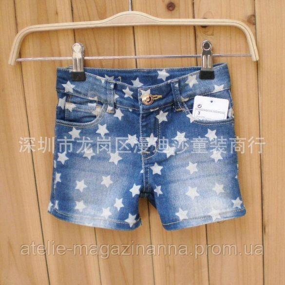 Джинсовые шорты для девочек 8049