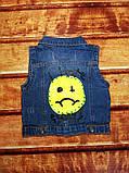 Желетка детская джинсовая синяя 8056, фото 2