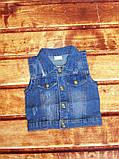 Желетка детская джинсовая синяя 8056, фото 3