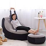 Надувное кресло с пуфиком Air Sofa Comfort - надувная мебель Intex, фото 6